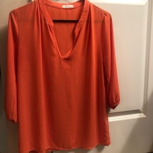Tops - Orange, polyester top